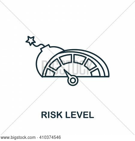 Risk Level Icon. Simple Element From Risk Management Collection. Creative Risk Level Icon For Web De
