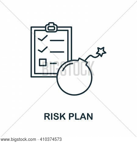 Risk Plan Icon. Simple Element From Risk Management Collection. Creative Risk Plan Icon For Web Desi