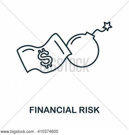 Financial Risk Icon. Simple Element From Risk Management Collection. Creative Financial Risk Icon Fo