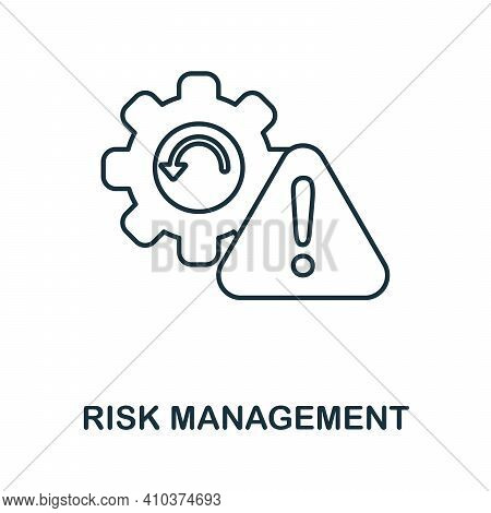 Risk Management Icon. Monochrome Simple Risk Management Icon For Templates, Web Design And Infograph