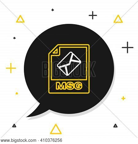 Line Msg File Document. Download Msg Button Icon Isolated On White Background. Msg File Symbol. Colo