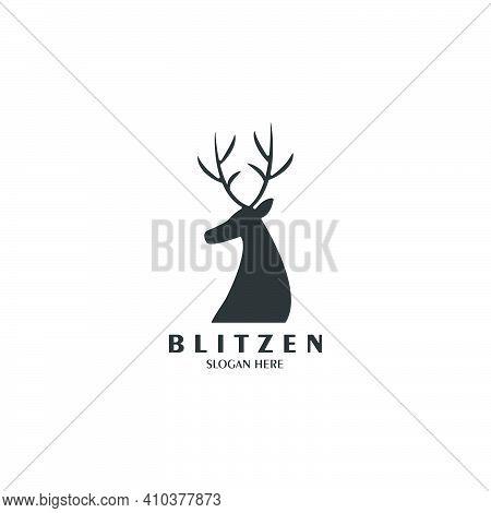 Blitzen Logo Vintage Illustration Template Vector Design