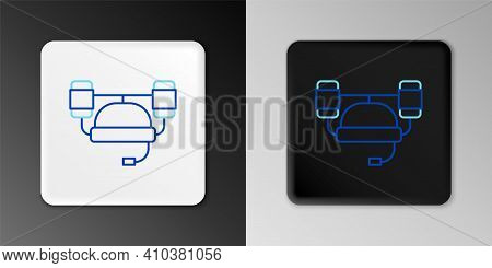 Line Beer Helmet Or Hand Free For Drink Icon Isolated On Grey Background. Colorful Outline Concept.