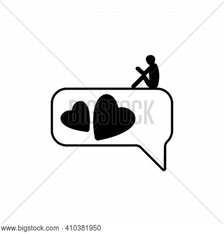 Dating And Online Communication. Virtual Romantic Date. Love During Quarantine. Chat, Love, Phone