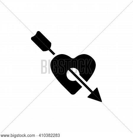 Arrow Heart Icon. Love Sign. Valentines Symbol. Vector Valentine