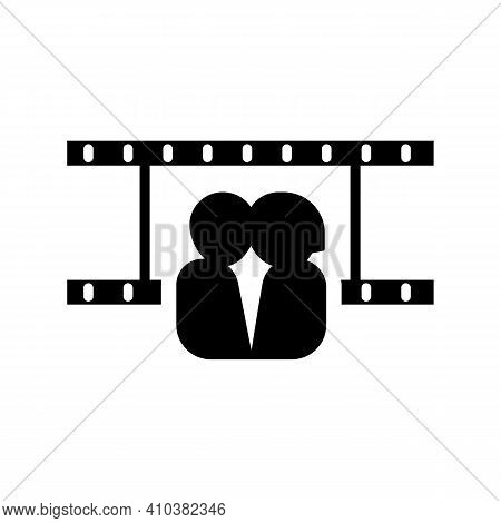 Couple In Love. Two Happy Hearts Watching Movie Together, Film Valentine, Valentines Day