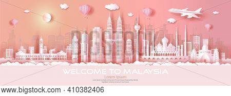 Travel Malaysia Top World Famous City Modern And Ancient Architecture. Tour Malaysia Landmark Of Asi