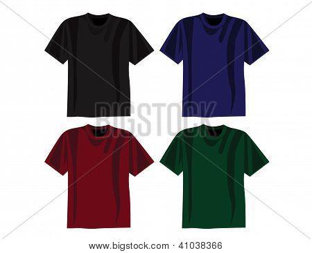 Colored T-shirt Vectors