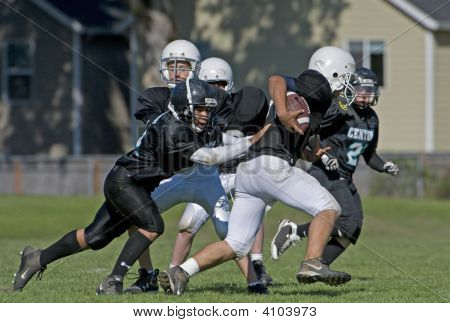 Youth Football Game Shot