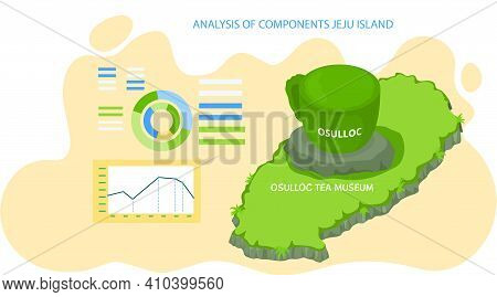 Analysis Of Components Jeju Island With Chart. Traveling To Asia By Landmark Osulloc Tea Museum. Bus