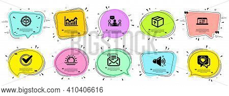 Business Icons Set. Speech Bubble Offer Banners. Vector Coupon Badge. Included Icon As Friends Chat,