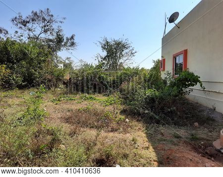 Beautiful View Of Empty Site For Sale And Near Newly Constructed House In A Forest