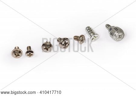 Different Self-threading Sheet Metal Screws And Machine Screw With Cross Recessed And Combined Heads