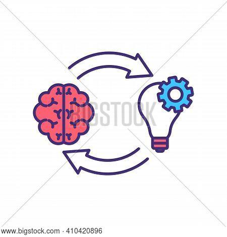 Growth Mindset Development Rgb Color Icon. Mind Skills. Self-awareness. Mental Performance Improveme