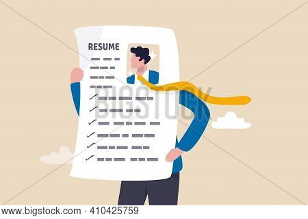 Stand Out Resume Or Cv, Creativity Way To Present Business Profile To Apply For New Job Concept, You