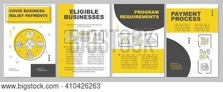 Covid Business Relief Payments Brochure Template. Program Requirements. Flyer, Booklet, Leaflet Prin