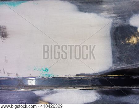 Car Paintwork Repair Process. Universal Type Putty On The Surface Of The Car. Texture Background