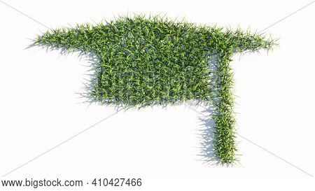 Concept or conceptual green summer lawn grass symbol isolated on white background, sign of graduate cap. A 3d illustration metaphor for academic achievement, success and a future professional career