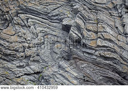 Stone Background; Natural Rock Formations In Norwegian Nature