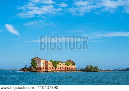 View To The Island Madonna Del Monte Near Venice, Italy.
