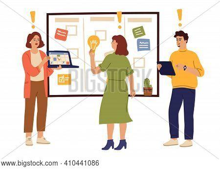 Teamwork Brainstorm. Office People Thinking, Creative Man Woman Planning Start Up. Business Team, Ef