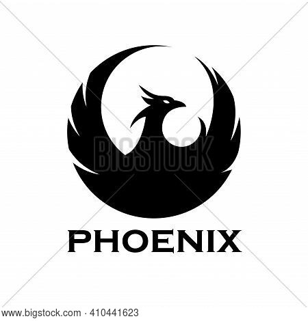 Phoenix Animal Bird Logo Vector. Phoenix Illustration Design Vector