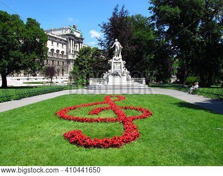 Vienna, Austria - 11 Jun 2011: The Monument Of Mozart In Vienna, Austria