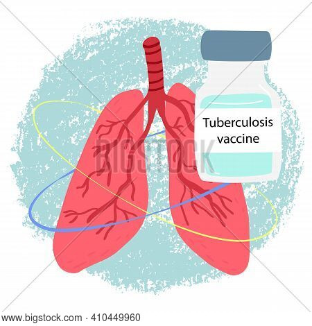 Pneumonia, Bronchial Infections Awareness, Prevention Tuberculosis Disease Concept. Human Lungs And