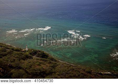 View Of The Diamondhead Lighthouse By Honolulu, Hawaii