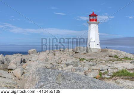 View Of Peggy's Cove Lighthouse, Nova Scotia, Canada