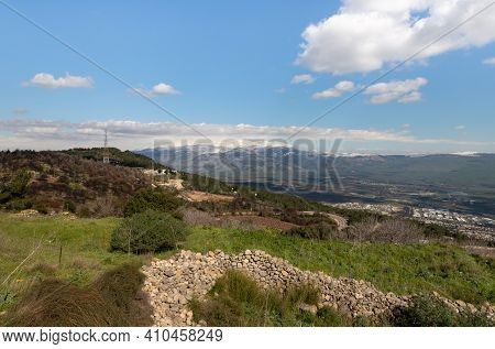 View From The Mountain Near The Israeli Margaliot Village To The Valley In The Upper Galilee In Nort