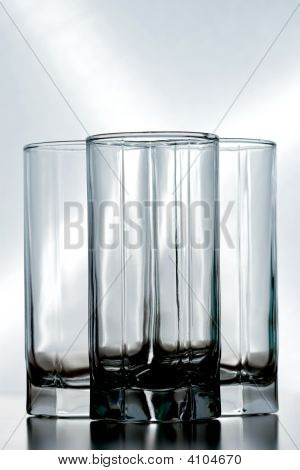 Three Empty Glasses