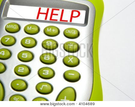 "Calculator With Word ""Help"""