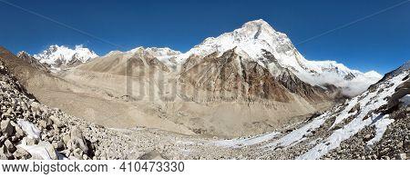 Mount Makalu, Lhotse And Everest, Nepal Himalaya, Barun Valley, Himalayas Mountains