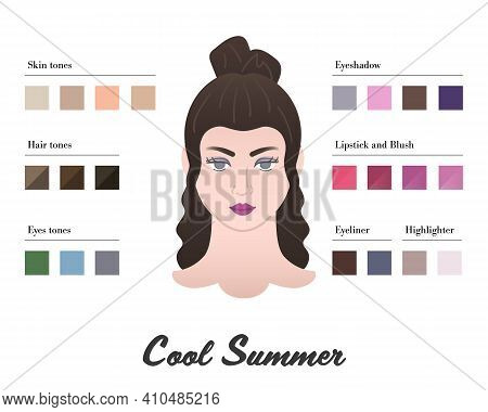 Women Color Types Analysis - Cool Or Cold Summer Type. Characteristics Of Colortype And Best Palette