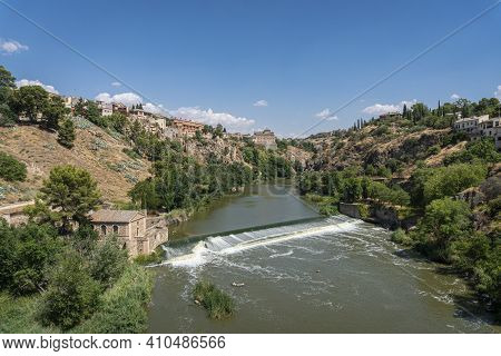View Of The River Tagus In The City Of Toledo, Spain