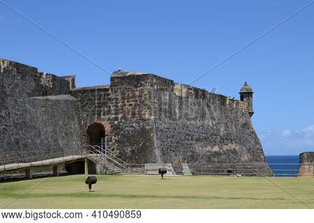 The Castillo San Cristobal Fortress, San Juan, Puerto Rico.