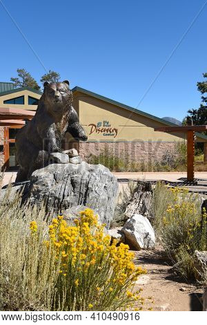 FAWNSKIN, CALIFORNIA - SEPTEMBER 25, 2016: Big Bear Discovery Center. The Discovery Center is an educational center in the San Bernardino National Forest in the heart of the Big Bear Valley.