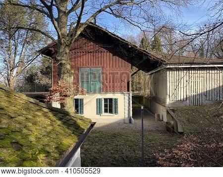 Outbuildings Next To The Castle Au (au Villa Or Schloss Au) On The Au Peninsula, Wädenswil (waedensw