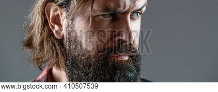 Sexy Look Of Male. Hipster Man With Beard, Mustache. Handsome Brutal Male. Sexy Closeup Portrait Of