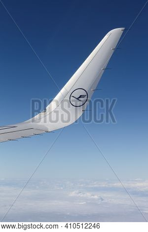 Germany - October 8, 2016: Lufthansa Logo On An Aircraft. Lufthansa Is A German Airline And Also The