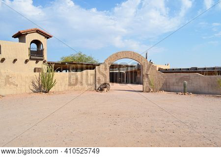 FORT McDOWELL, ARIZONA - JUNE 28, 2011: Rosas Ranch. Rosas Ranch is an intimate outdoor venue, in the Sonoran Desert, packed with Southwestern flavor.