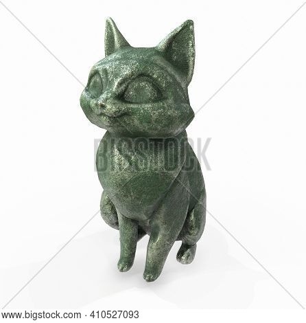 3d Rendered Images Of Cat Statue Clipart, Mythology, Gold, Statue, Pyramids, Metallic,
