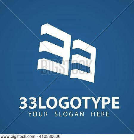 33 3 3 Number Logo Design. Creative Minimal Modern Logo Design. Universal Elegant Emblem. Premium Fu