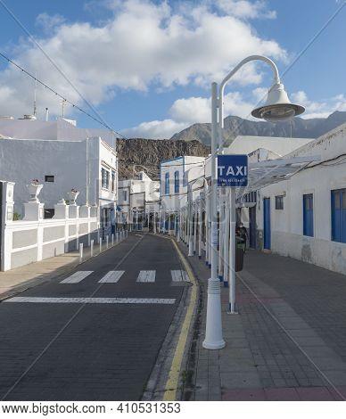 Puerto De Las Nieves, Agaete, Gran Canaria, Canary Islands, Spain December 17, 2020: Main Street Pro