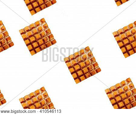 Seamless Copper Cooling Element On Black Plastic Background. Copper Heat Sink.