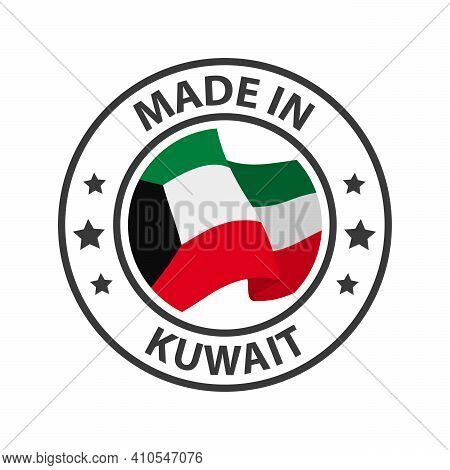 Made In Kuwait Icon. Stamp Sticker. Vector Illustration