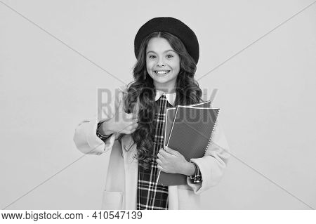 Perfect Day. Kid School Fashion. Cheerful Child Ready For Schoolyear. Education. Happy Childhood. No