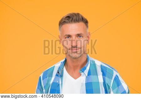 Mental And Physical Health. Handsome Mature Man Casual Wear. Confident Guy Wearing Casual Clothes. G