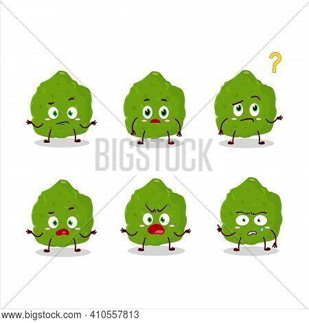 Cartoon Character Of Kaffir Lime Fruit With What Expression